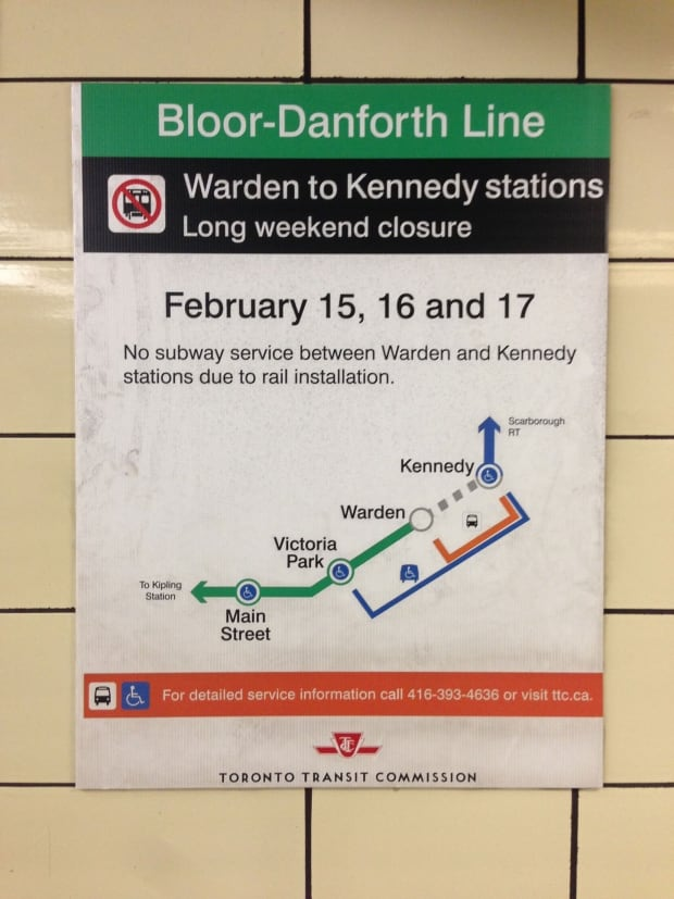 Bloor Danforth closure on Family Day