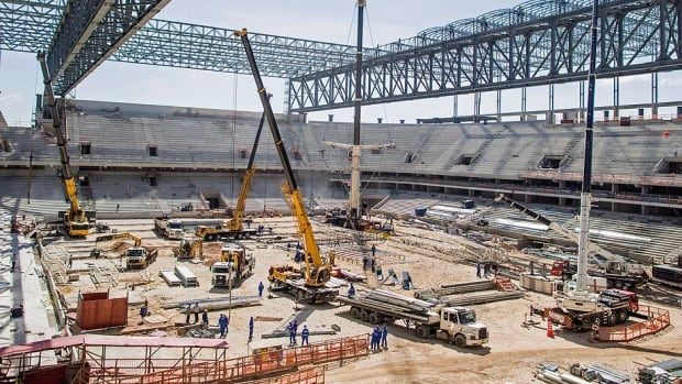 Local organizers in the southern Brazilian city of Curitiba insisted Thursday they have taken all measures requested by FIFA to guarantee its delayed stadium, the  Arena da Baixada, pictured here, will be finished in time for the World Cup finals in four months.