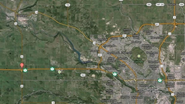 One person is dead after a crash at Highway 1 and Highway 22 near Cochrane, Alta.
