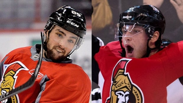 Ottawa Senators forwards Cory Conacher, left, and Bobby Ryan each got engaged to their girlfriends on Feb. 13, 2014 while on the Olympic break.