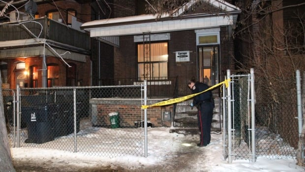 A man is in hospital after a stabbing in Toronto's west end Thursday night.