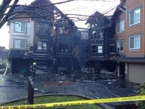 Surrey townhome fire