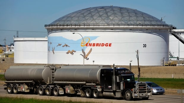 Enbridge reported a fourth-quarter loss of $267 million on Friday. It also said that the politically charged debate over oil pipelines in the U.S. is causing regulators to be more cautious and holding up its Alberta Clipper project, a pipeline that is to eventually carry 800,000 barrels of oil a day between Alberta and Wisconsin.