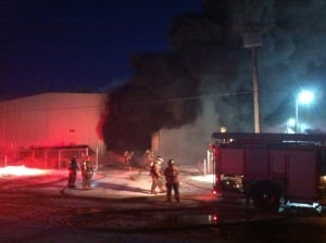 Sutherland warehouse fire
