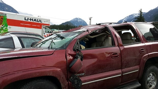 Grand Chief Stewart Phillip was injured when his Chevrolet Tahoe slid on black ice into a rock face and flipped on its roof Friday night near Hope, B.C.