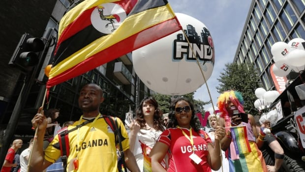 Ugandans participate in 2013's annual Pride London parade, which highlights issues of the gay, lesbian and transgender community. Homosexuality is outlawed in Uganda, and U.S. President Barack Obama has said further steps to criminalize homosexuality there are troubling.