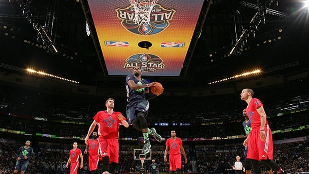 Kyrie Irving of the Eastern Conference shoots during the 2014 NBA All-Star Game on February 15, 2014 in New Orleans, Louisiana.