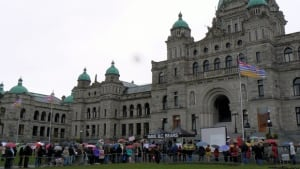 Save B.C. Bears rally at Legislature