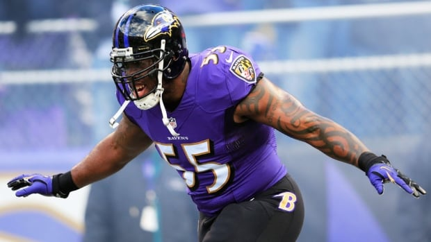 Baltimore Ravens outside linebacker Terrell Suggs is signed through 2018.