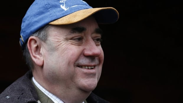 Scotland's First Minister Alex Salmond attends the opening day of salmon fishing season on the river Tay  at Dunkeld in Scotland Jan. 15. In a speech Monday he struck back at critics in Britain and the EU who dismissed plans for an independent Scotland that uses the British pound.