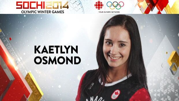 Kaetlyn Osmond is competing in the women's individual program this week.
