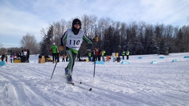 Kees Corriere with the North Division team competes in a cross-country skiing event at the Saskatchewan Winter Games in Prince Albert.