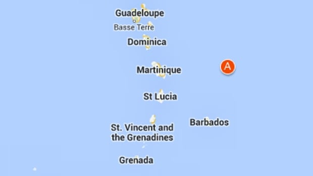 The U.S. Geological Survey said the earthquake was centred about 172 kilometres northeast of Bathsheba, Barbados.