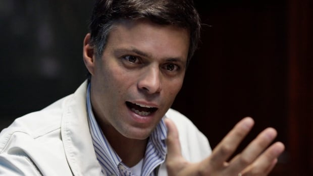 "Venezuela opposition leader Leopoldo Lopez has surrendered to security forces, saying: ""I present myself to an unjust judiciary. They want to jail Venezuelans who want peaceful, democratic change."""