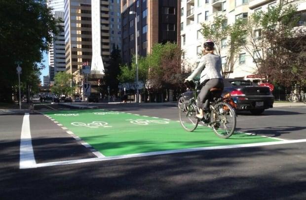bike lanes calgary, cycle track