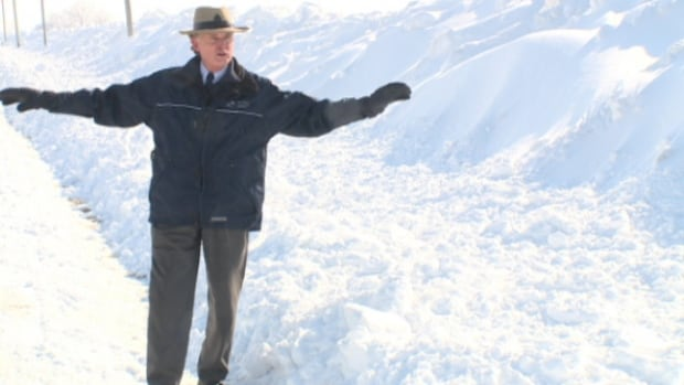 Tim Byrne of the Essex Region Conservation Authority says ditches are packed with snow and water has few places to go when the snow melts.