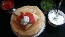 D is for Dinner blini salmon sour cream dill