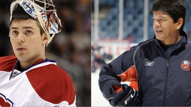 Carey Price and Ted Nolan face-off in today's Men's Hockey quarter-final.