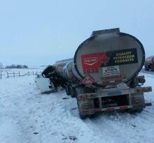 Truck crash near Balcarres, Sask.