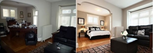 An example of before and after home staging