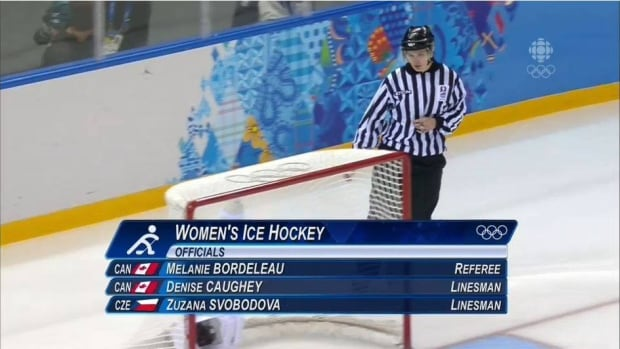 Denise Caughey-Sondjo went to the Olympics with the International Ice Hockey Federation.