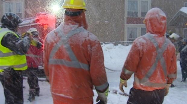 Emergency crews at St. John's apartment complex fire