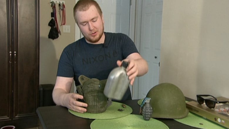 Second World War soldier reunited with helmet after 70 years | CBC News