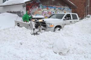 stuck snow plow thunder bay
