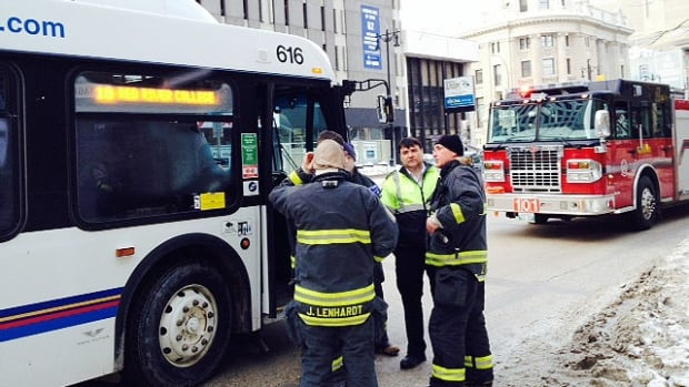 Emergency crews were called to a crash involving a bus and pedestrian on Portage Avenue in Winnipeg on Friday.