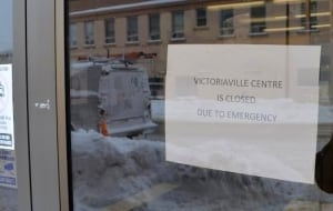 victoriaville centre mall closed sign