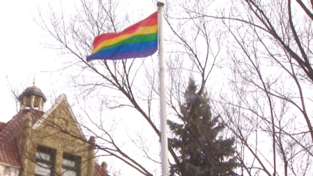 The City of Calgary raised the rainbow flag on Feb. 7 at City Hall to protest Russia's anti-gay policies.