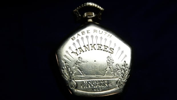 A pocket watch that was given to Babe Ruth in 1923 sold for $700K at an auction in New York City.