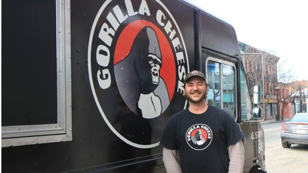Graeme Smith, a steel-worker-turned-entrepreneur from Hamilton, brought his grilled cheese food truck to Dragon's Den's audition at CBC Hamilton.