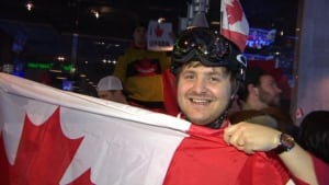 Team Canada fan at Shark Club
