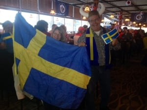 Swedish fans in Winnipeg