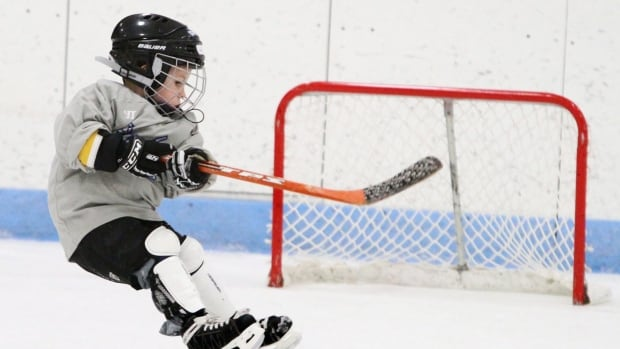 A hockey equipment company is trying to attract more young Canadians to the game.