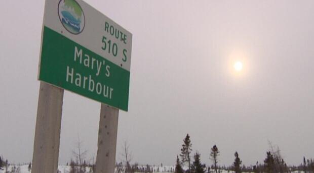Mary's Harbour Labrador sign CBC