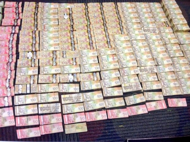 Cash seized by drug squad