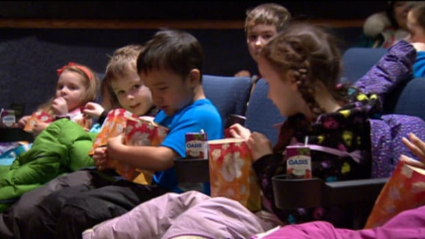 Elementary school children in Iqaluit packed the Astro Theatre yesterday for the premier of the Inuktitut version of Long Goodbyes, the feature film based on the characters of the children's television series Wapos Bay. (CBC)