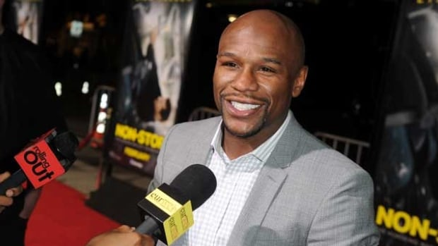 Boxer Floyd Mayweather, seen at an event in last week in Los Angeles, is undefeated in 45 fights.