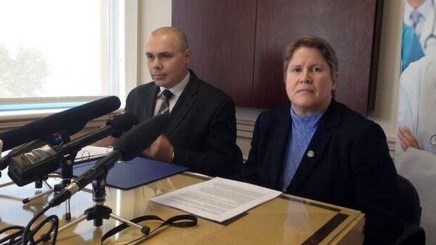 New Brunswick Medical Society CEO Anthony Knight and president Lynn Hansen