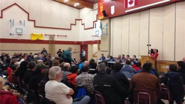 Many people at a meeting in McLean Tuesday expressed concern about a proposed wind turbine project.