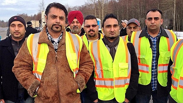 Non-unionized container truckers walked off the job at Port Metro Vancouver in February.