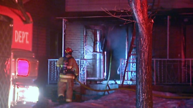 Fire crews responded to a blaze at a northeast Calgary home on Wednesday night.