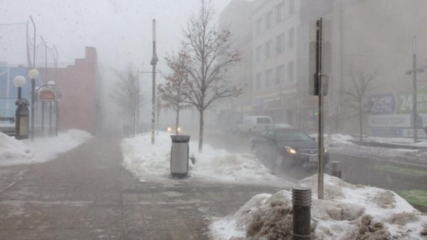 Environment Canada issued a snow squall watch for the region Thursday afternoon.