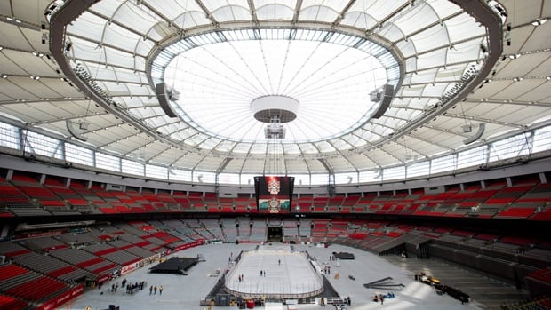 B.C. Place will be the site of the NHL Heritage Classic hockey game between the Vancouver Canucks and Ottawa Senators on Sunday. It's the first time an outdoor NHL game will be played at a retractable-roof stadium.