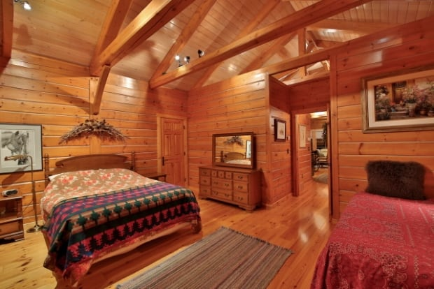 Priddis interior wood room