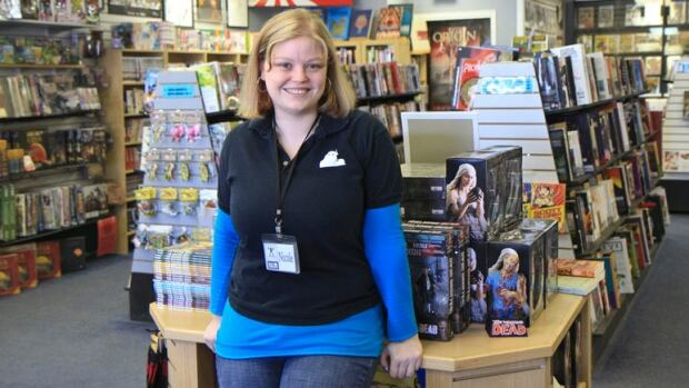 Nicole Cartwright, assistant manager of Hamilton's Big B Comics, says comic books can be a great tool to help students improve reading skills.