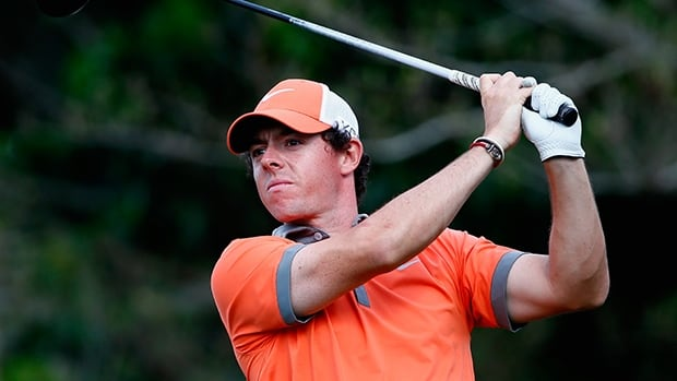 Rory McIlroy plays a shot on the 14th hole during the first round of The Honda Classic at PGA National Resort and Spa on February 27, 2014 in Palm Beach Gardens, Florida.