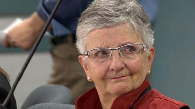 Huguette Hebert was banned for a day from seeing her husband at a continuing care facility after she asked to stay in the room while he was changed to see if he had bedsores.